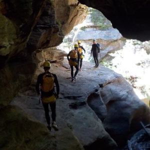 Walking through the Tunnel, Serendipity Canyon Tour, Blue Mountains Canyoning Tour