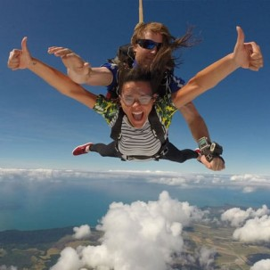 Skydiving over Cairns Qld with amazing views!