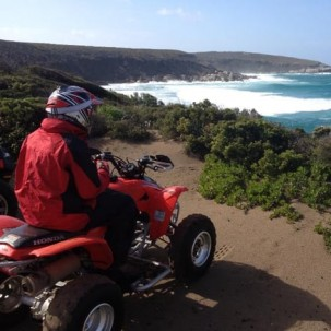 Some amazing views await while quad biking on Kangaroo Island