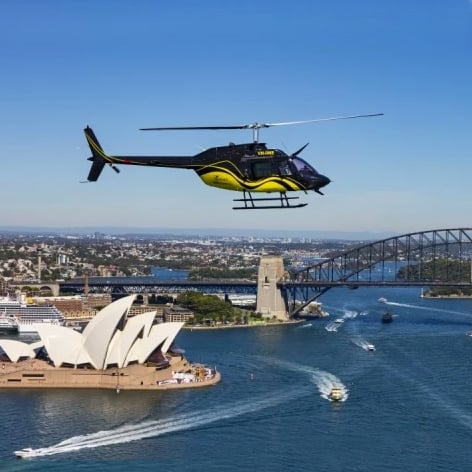 Private Sydney Sunset Helicopter Ride plus Champagne