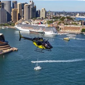 A private Sydney Scenic Helicopter flight for 4 people.