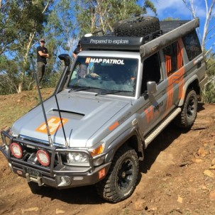 Off road 4WD driving course near Brisbane.