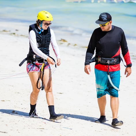 Beginners Kitesurfing Lesson, Perth, Shoalwater Bay